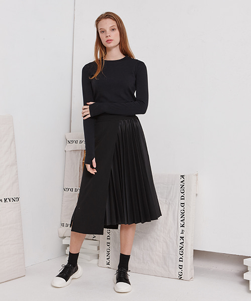 [19FW][40% 세일] Pleats Slim Skirt