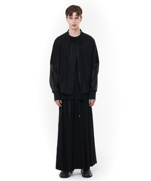 [20SS][15% SALE] See-through Oversize MA-1 (BK)_ PA1JP0303