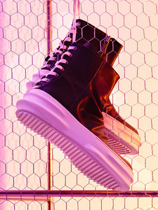 Back Lace Up Leather High-Top (IV)