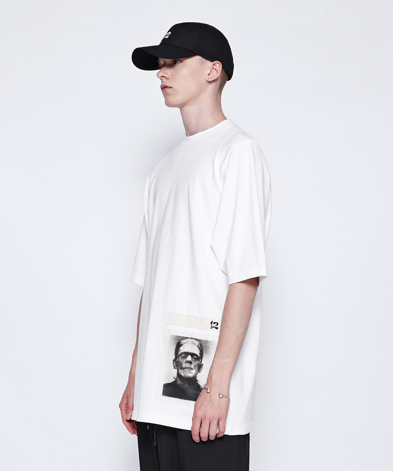 [19SS][50% 세일] Frankenstein Patchwork T-Shirts (WH)