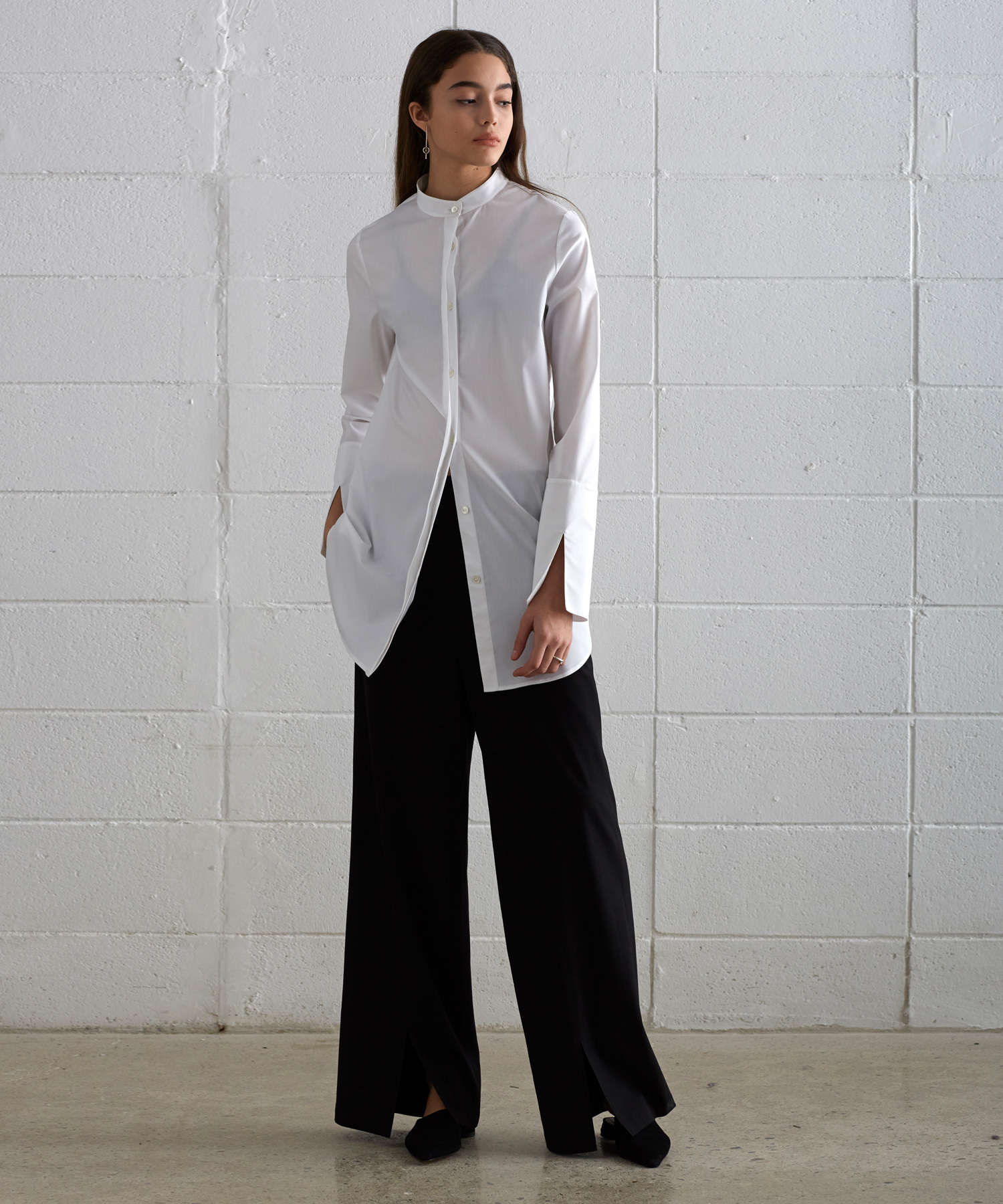 [19SS][40% 세일] Front Slit Wide Pants (BK)