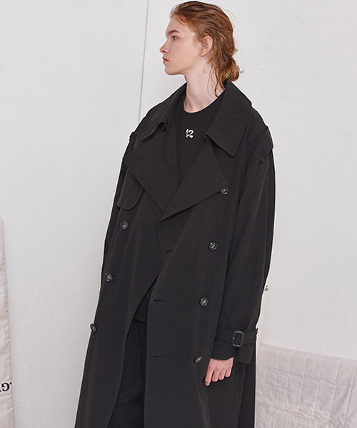 [19FW][30% 세일] Oversize Trench Coat (BK)