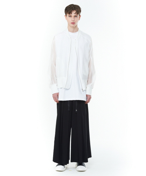 [20SS][15% SALE] See-through Oversize MA-1 (WH)_ PA1JP0404