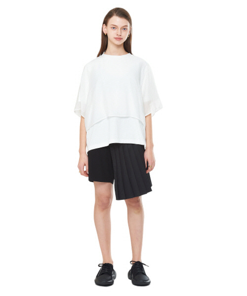 [20SS][15% SALE] Layered See-through T-Shirts (WH)_ W01TS0202