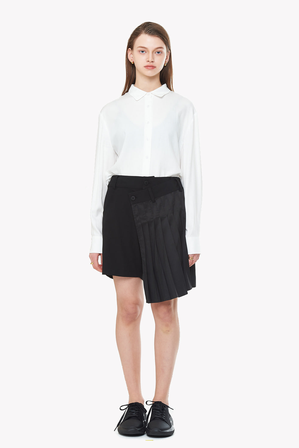 [20SS][15% SALE] Pleats Short Skirt Pants_ W01PA0303