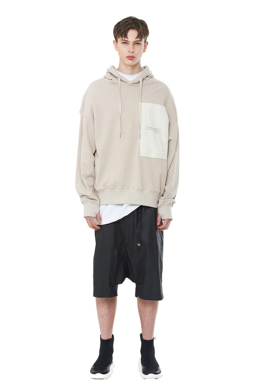[20SS][30% SALE] Layered Patch Hood T-Shirts (BE)_ PA1TS1010
