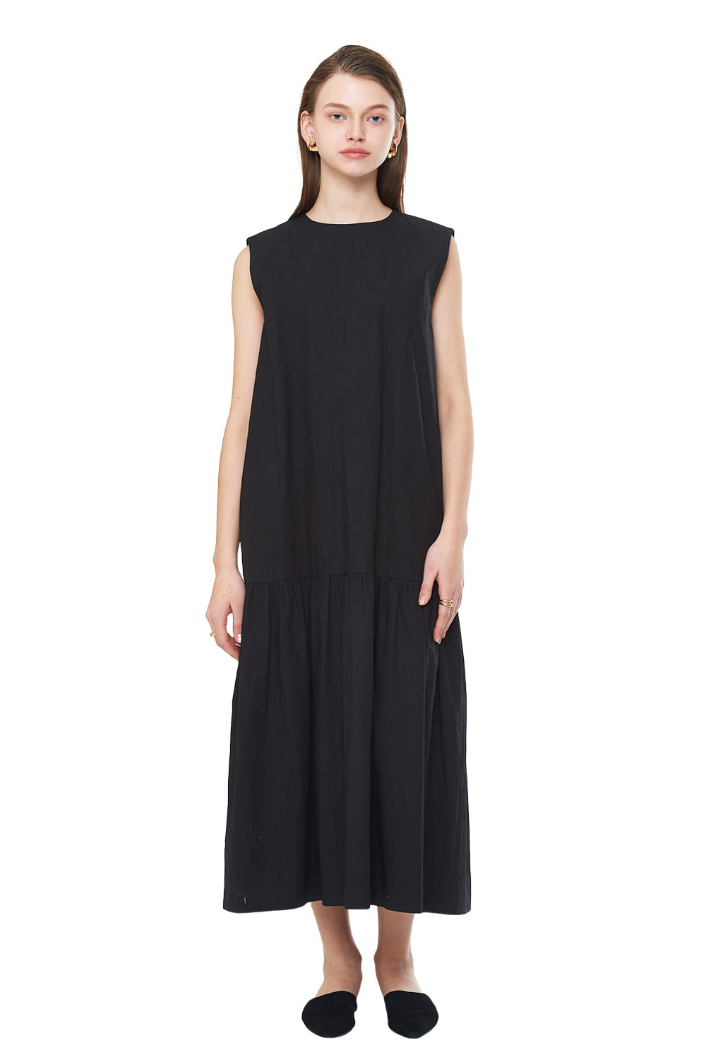 [20SS][50%SALE] Shirring Sleeveless Long One-piece_ W01OP0202