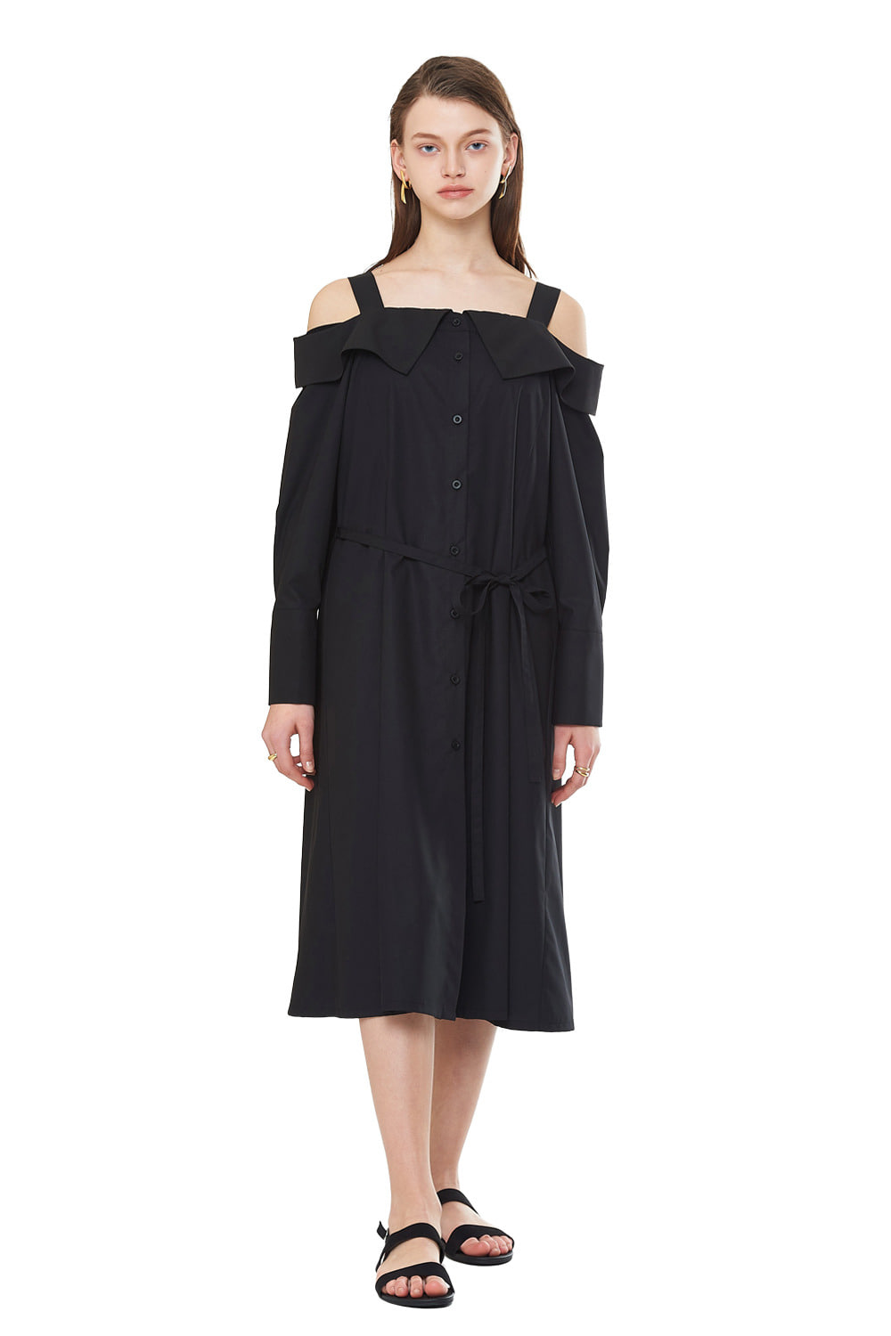 [20SS][20% SALE]  Off Shoulder Shirts One-piece (BK)_ W01OP0303