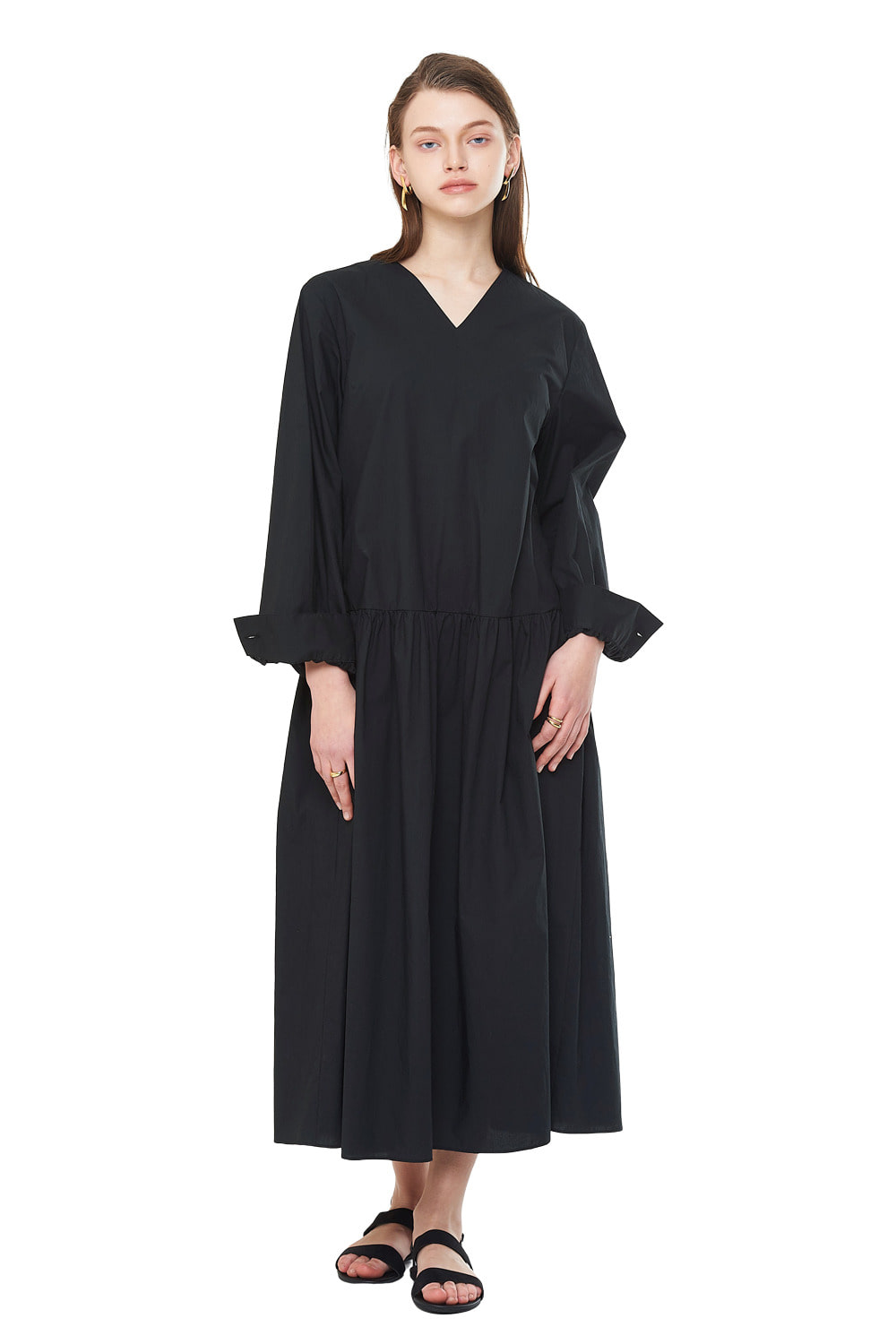 [20SS][50%SALE] V-Neck Oversize Long One-piece_ W01OP0404
