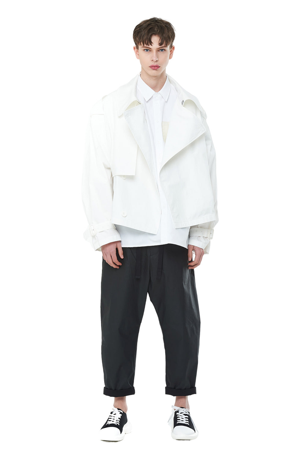 [리퍼브세일][20SS] Overfit Short Trench Coat (WH)_ PA1JP0606