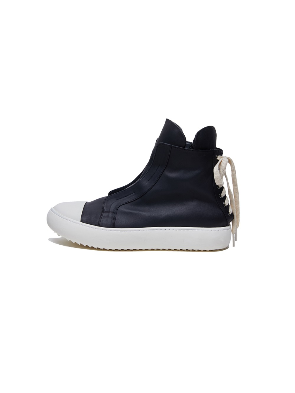 [12DAY][30%SALE] Sharksole Back Lace-up High Top (BK/IV)_ PA3SU0303